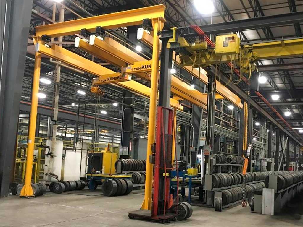 KTrac - Overhead Workstation Bridge Cranes - Up to 3 Ton | Cranes by